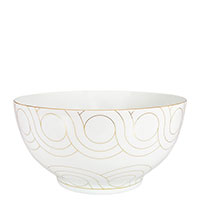 Салатник Porcel Infinity с орнаментом золотистого цвета, фото