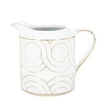 Молочник Porcel Infinity с орнаментом золотистого цвета, фото