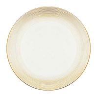 Обеденная тарелка Porcel Golden Orbit с орнаментом золотистого цвета, фото