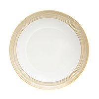 Тарелка Porcel Golden Orbit с орнаментом золотистого цвета, фото