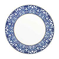 Обеденная тарелка Porcel Blue Legacy с орнаментом синего цвета, фото