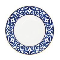 Тарелка Porcel Blue Legacy белого цвета, фото