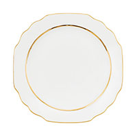 Тарелка Porcel Premim Gold из фарфора белого цвета, фото
