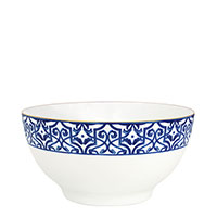 Салатник Porcel Blue Legacy с орнаментом синего цвета, фото