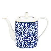 Чайник Porcel Blue Legacy с орнаментом синего цвета, фото