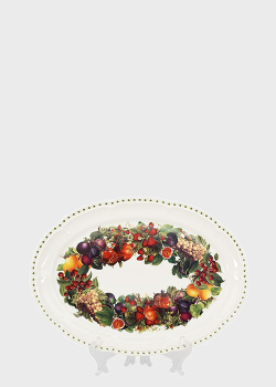Блюдо Brandani Le Primizie 40см с венком из фруктов, фото