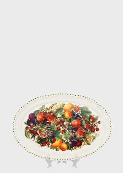 Блюдо Brandani Le Primizie 50х30см с фруктовым узором, фото