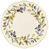 Тарелка для десерта Villa Grazia Оливы и маслины 21см, фото
