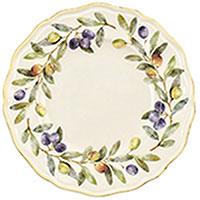Набор тарелок для десерта Villa Grazia Оливы и маслины на 6 персон, фото