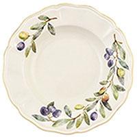 Тарелка для супа Villa Grazia Оливы и маслины 23см, фото