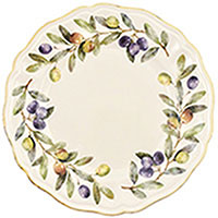 Тарелка обеденная Villa Grazia Оливы и маслины 28см, фото