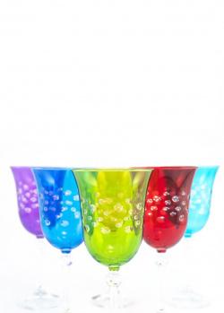 Набор цветных бокалов Maison Diva для вина 6шт, фото