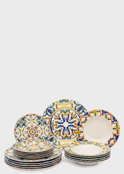 Столовый сервиз на 6 персон с восточным орнаментом Brandani Medicea 18 предметов, фото