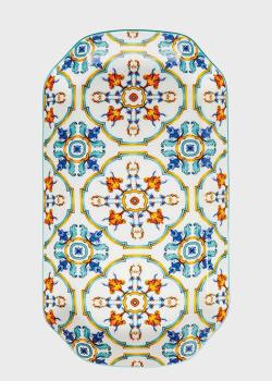 Блюдо прямоугольное с ярким орнаментом Brandani Medicea 30х17см, фото