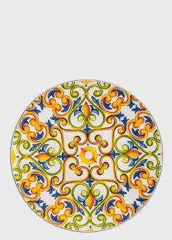 Блюдо круглое яркое из огнеупорной керамики Brandani Medicea 40см, фото