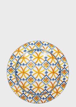Глубокое блюдо Brandani Medicea 40см с орнаментом, фото