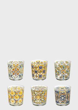 Набор из 6-ти стаканов Brandani Medicea 0,36л с узором, фото