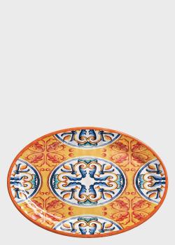 Блюдо овальное разноцветное Brandani Medicea 35,5х25см, фото