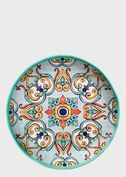 Набор из 6-ти обеденных тарелок с ярким узором Brandani Medicea 26,5см, фото