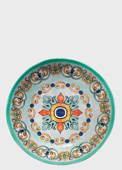 Набор тарелок для супа с разноцветным узором Brandani Medicea  6шт 21,5см, фото