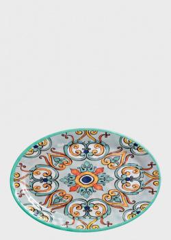 Блюдо овальное из меламина бирюзового цвета Brandani Medicea 35,5х25см, фото