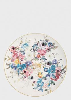 Блюдо круглое из керамики с цветочным рисунком Brandani Paradise 31,5см, фото