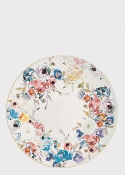 Блюдо круглое большое из высокопрочной керамики Brandani Paradise 40см, фото