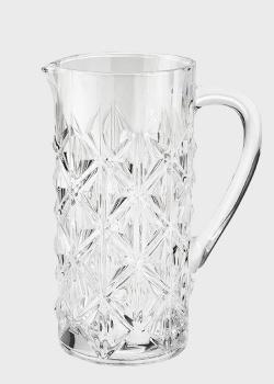 Кувшин стеклянный высокий Brandani Strong с выпуклым дизайном , фото