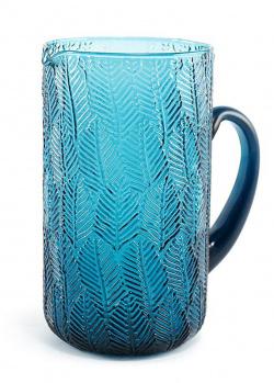 Стеклянный кувшин Maison Montego синего цвета, фото