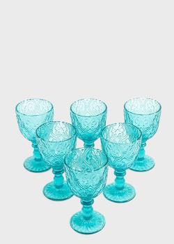 Набор бокалов Maison Corinto 0,3л 6шт голубого цвета, фото