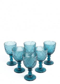Бокалы для вина Maison Corinto синего цвета 6шт, фото