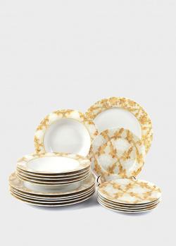 Сервиз столовый с золотистым орнаментом Maison Queen на 6 персон , фото