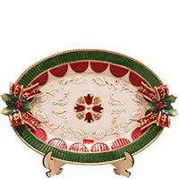 Блюдо новогоднее Palais Royal овальное мультиколор, фото
