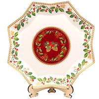 Блюдо новогоднее Palais Royal восьмигранное Счастливые дни, фото