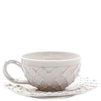 Кофейная чашка с блюдцем Palais Royal Trame in bianco, фото