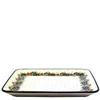 Блюдо Ceramika Artystyczna Лесной веночек квадратное, фото