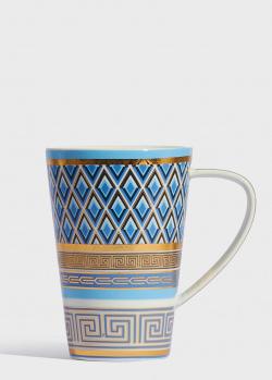 Фарфоровая чашка Baci Milano 5th Avenue 12,5см с орнаментом, фото