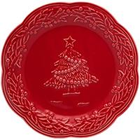 Десертная тарелка Bordallo Pinheiro Рождество, фото