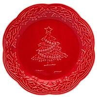 Набор десертных тарелок на 6 персон Bordallo Pinheiro Рождество 21см, фото