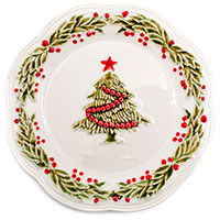 Десертная тарелка Bordallo Pinheiro с елочкой, фото