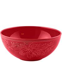 Салатник красного цвета Bordallo Pinheiro Зима, фото