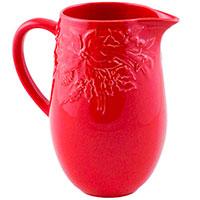 Кувшин красного цвета Bordallo Pinheiro Зима, фото