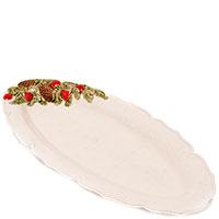 Блюдо белого цвета Bordallo Pinheiro Рождественская гирлянда 40x19см, фото