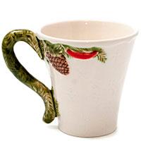 Керамическая чашка Bordallo Pinheiro Рождественская гирлянда, фото