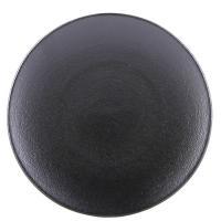 Черная тарелка Revol Equinoxe из фарфора 24см, фото