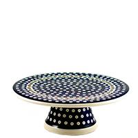 Тортовница Ceramika Artystyczna Волшебная синева на ножке, фото
