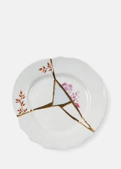 Десертная тарелка Seletti Kintsugi n'1 диаметром 21 см, фото