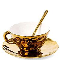 Чашка Seletti Fingers с блюдцем и ложкой, фото