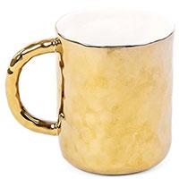 Чашка из фарфора Seletti Fingers золотистого цвета, фото