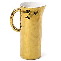 Фарфоровый кувшин Seletti Fingers золотистого цвета, фото